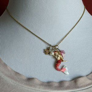 Betsey Johnson Mermaid Charm Necklace